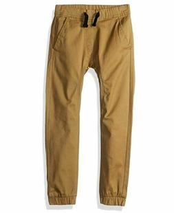 Southpole Little Boys Solid Stretch Twill Long Jogger Pants,