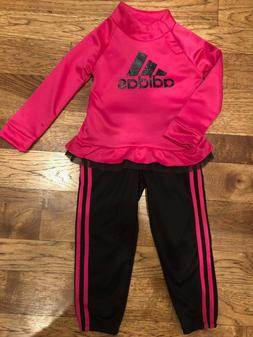 little girls hoodie and 3 stripe jogger