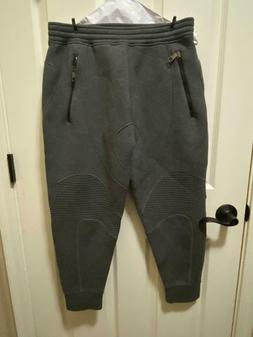 logo zip biker jogging pant mens sweatpants