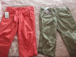 Lot of 2 Women's Cargo Pants Joggers Style Size 10 Peach a
