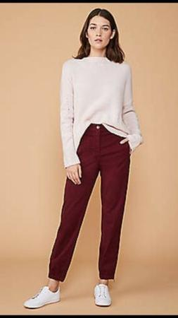 Lou & Grey Brushed Twill Joggers S Berry NWT Ret $69.50