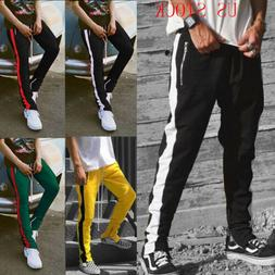 MEN BIG AND TALL HIPSTER TECHNO TRACK PANTS WITH SIDE COLOR