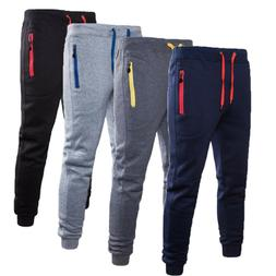 Men Casual Pants Long Trousers Tracksuit Gym Sport Workout <