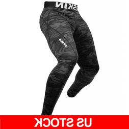 DRSKIN Mens Compression Pants Base Layer Athletic Work Out L