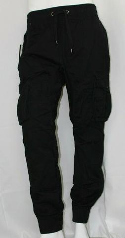 Southpole Men Jogger Cargo Pants with 6 Pockets Black Size L