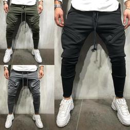 Men Sport Gym Pants Slim Fit Running Joggers Casual Long Tro