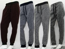 SOUTHPOLE MEN MARLED FLEECE JOGGER PANTS 4 COLOR SIZE S-3XL