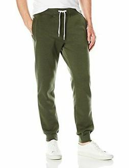 Southpole Men's Active Basic Jogger Fleece Pants, Olive, SMA