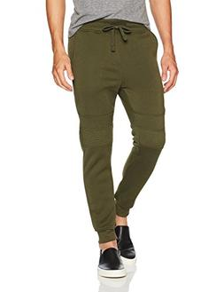 Southpole Men's Active Basic Jogger Fleece Pants, Olive, Lar