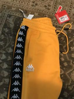 Kappa Men's Banda Astoria Snaps Joggers, Yellow Small