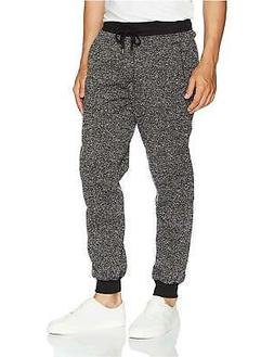 Southpole Men's Basic Fleece Marled Jogger Pant, Black, X-Sm