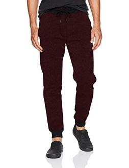 Southpole Men's Basic Fleece Marled Jogger Pant, New Red, XX