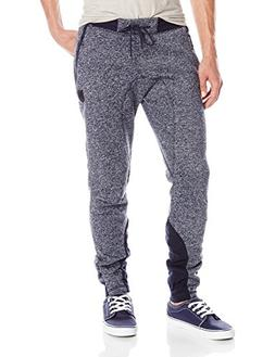 Southpole Men's Basic Fleece Marled Jogger Pant, Marled Blue