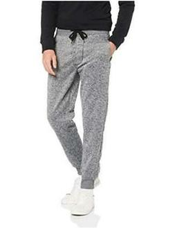 Southpole Men's Basic Fleece Marled Jogger Pant Grey Medium