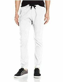 Southpole Men's Basic Stretch Twill Jogger Pants-Reg and, Wh