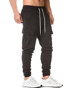 Men's Cargo Jogger Pants Workout Sweatpants Casual Trousers