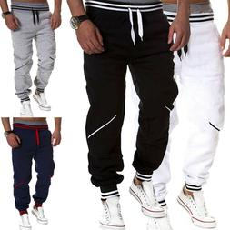 Men's Casual Activewear Bottoms Drawstring Trousers Joggers