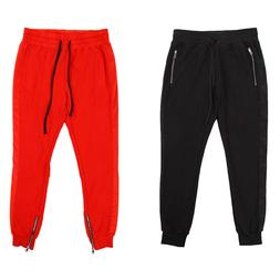Men's Casual Soft Fleece Track Sweat Pants Closed Bottom Jog