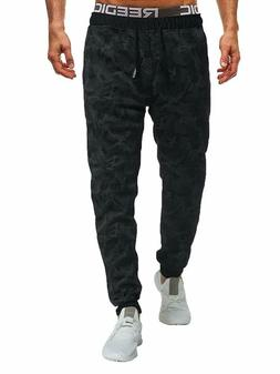 Sweatyrocks Men'S Casual Sweatpant Camo Print Drawstring Fle