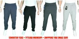 MEN WOMEN UNISEX SWEATPANTS FLEECE WORKOUT GYM SPORT PANTS S