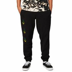 Volcom Men's Deadly Stones Fleece Pants Black Clothing Appar