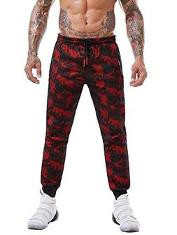 AKARMY Men's Drawstring Joggers Pants Sport Sweatpants with