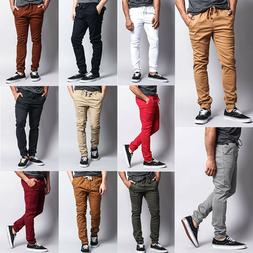 Victorious Men's Elastic Waist Trousers Twill Skinny Joggers