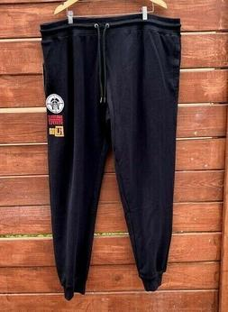 Born Fly Men's Fleece Jogger Black Pants  Big and Tall B&T 4
