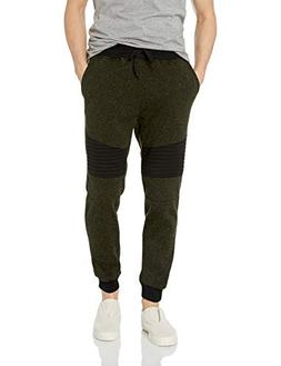 men s fleece joggers marled olive biker