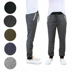 Galaxy by Harvic Men's French Terry Solid Active Slim Fit Jo