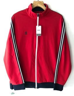Izod Men's Full Zip Casual Track Jogger Tennis Jacket Warm U