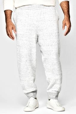 Men's Goodfellow Big & Tall Tapered Knit Jogger Pants Cement