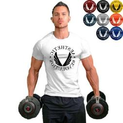 men s gym muscle fitness workout cotton