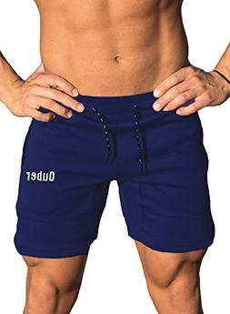 Ouber Men's Gym Workout Running Tight Fit Lifting Shorts