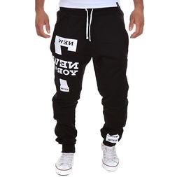 Men's hip hop Letter Print <font><b>Sweatpants</b></font> Sp
