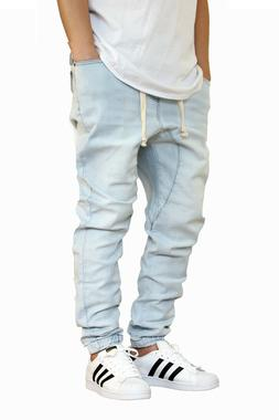 MEN'S ICE DROP CROTCH DENIM JOGGER PANTS S-5XL VICTORIOUS