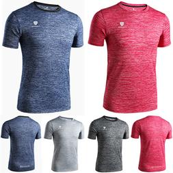 Men's Jogger Fitness Tops Gym Outdoor Sporty T-Shirt Fitted
