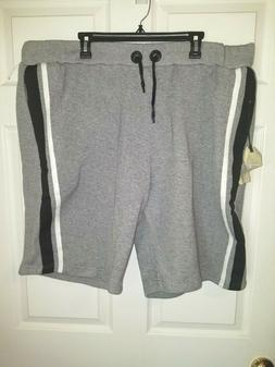 Free Planet Men's Jogger Shorts NWT Size 3X Gray Elastic Dra