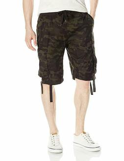 Southpole Men's Jogger Shorts With Cargo Pockets In Solid an