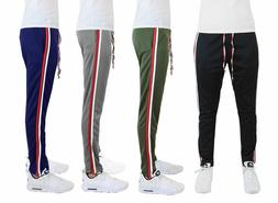Men's Jogger Track Pants Moisture Wicking with Contrast Side