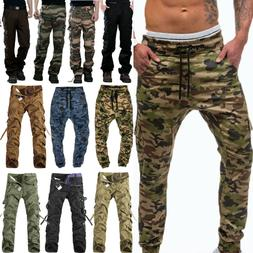 Men's Military Army Combat Trousers Tactical Cargo Camo Work