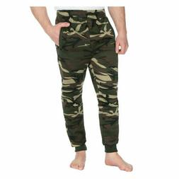 Men's Plus Size Slim Fit Camo Joggers Sweatpants Jog Pants E