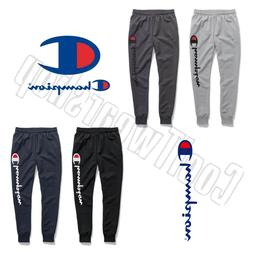 Champion Men's Powerblend Fleece Joggers, Verticle Script Lo