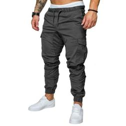 Men's Running Sport Joggers Trousers Black Fitness Gym Cloth