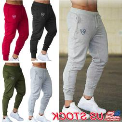 Men's Sport Pants Tracksuit Fitness Workout Joggers Gym Swea