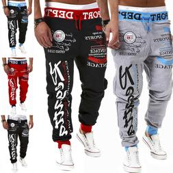 Men's Sports Pants Tracksuit Gym Fitness Workout Joggers Swe