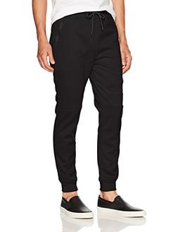 Southpole Men's Tech Fleece Basic Jogger Pants, Black, Large