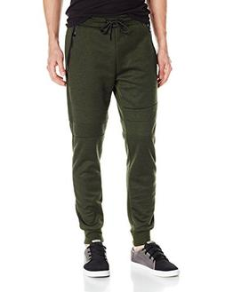 Southpole Men's Tech Fleece Basic Jogger Pants, Olive, Large