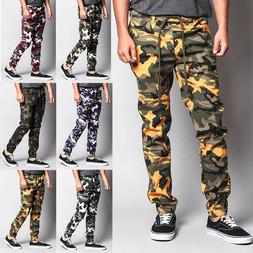 Victorious Men's Trousers Military Army Camo Twill Jogger Pa