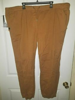 Akademiks Men's Twill Jogger NWT Big Tall Wheat or Black Ela